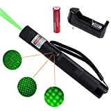 Green Adjustable Focus Long Range Flashlight for Astronomy Outdoor Camping and Hiking
