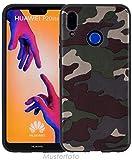 Favory Camouflage Design Silikon Hülle Premium TPU Hülle für Huawei Y6 PRO (2017) Tasche Schutzhülle Cover Shop
