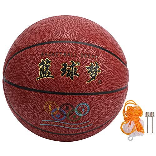 zhoul Pasta de Baloncesto competitiva Cuero de PU Bola de Ejercicio Interior al Aire Libre Suministros Deportivos Tamaño 7