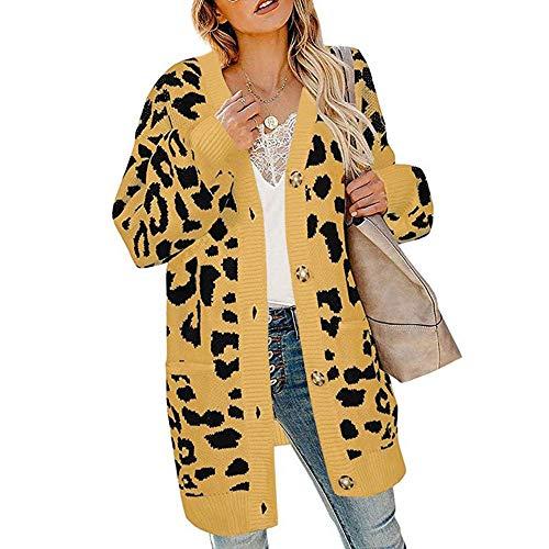 Sudaderas con Capucha para Mujer con Estampado de Leopardo, de Manga Larga,...