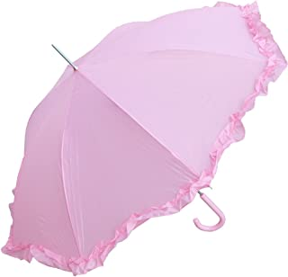 Women's Open Parasol Umbrella with Ruffle