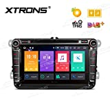 XTRONS 8' Android Autoradio mit Touchscreen Auto DVD Player Android 8.0 Octa Core Autostereo unterstützt 3G 4G Bluetooth 4GB RAM 32GB ROM DAB OBD2 TPMS FÜR VW Volkswagen/SEAT/Skoda...