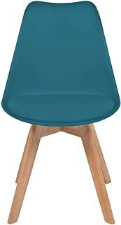 Peng sounded Sillas de comedor Sillas de comedor 2 unidades de cuero artificial y madera turquesa sillas de cocina para cocinas