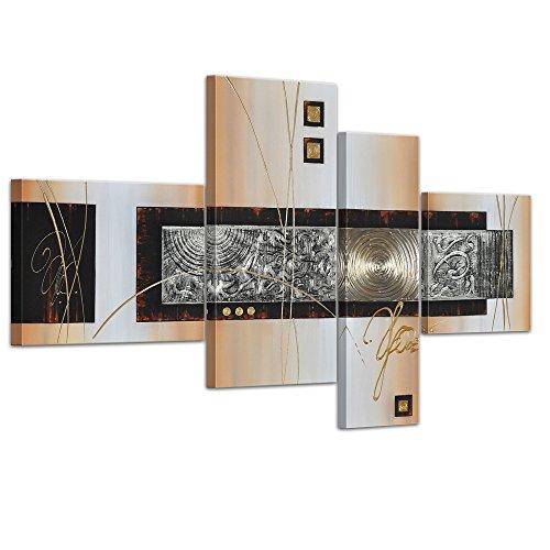 Bilderdepot24 dipinti arte astratta dipinta a mano su tela Opera 47.24 pollici x 27.56 pollici 4 pezzi 3028