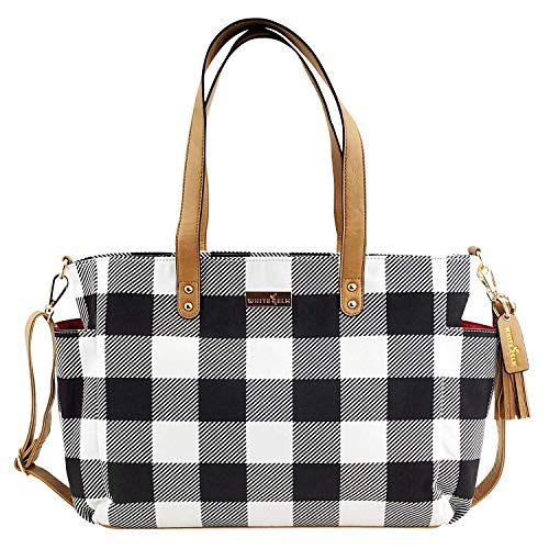 The Aquila Tote Bag by White Elm | Gray Stripe Canvas