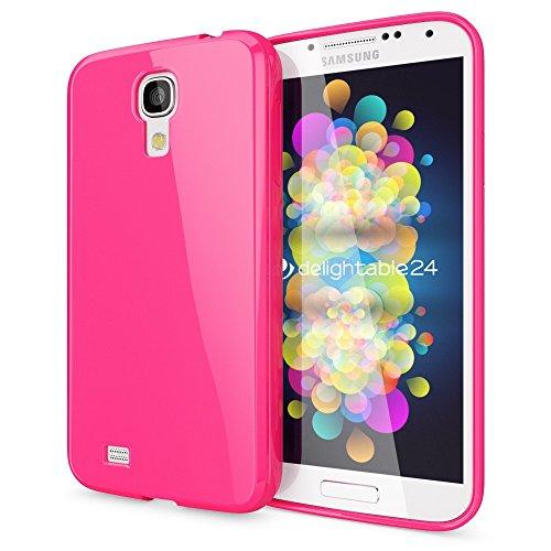 NALIA Custodia compatibile con Samsung Galaxy S4, Protezione Ultra-Slim Case Protettiva Morbido Cellulare in Silicone Gel, Gomma Jelly Telefono Cover Smartphone Bumper Sottile - Cipria