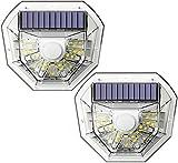 YUKM Solarbewegungssensor Beleuchtung 40 LED Solar Outdoor-Lichter, IP65 wasserdichte Sonnenschutz-dekorative Wandleuchten 270 ° Weitwinkel