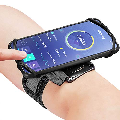 Auttumy 180° Rotatable Running Phone Armband :with Cases for Apple iPhone 11 Pro Xs Max XR X 8 7 6 6S Plus Samsung Galaxy S9+ S9 S8 S7 Edge Note Google for Women Men Workout Exercising Jogging