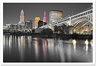 Cleveland - Touch of Color Skylines - 36x24 Matte Poster Print ToC