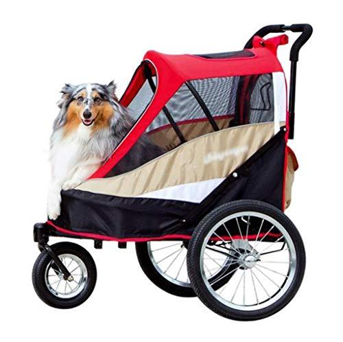 Hundebuggy buggy Kinderwagen Hundekinderwagen Pet Stroller Qualität Medium Large Dog Pet Stroller Herausnehmbare waschbare Folding Wagen Fahrrad-Anhänger Hundeperson HundewagenHunde Reisen