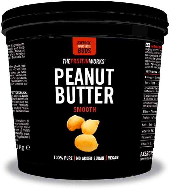 Burro di arachidi | 100% burro di arachidi tostate naturali, vegano | the protein works, cremoso, 1kg FODPEASM1KG