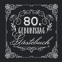 80 Geburtstag Gästebuch Vintage Deko Zur Feier Vom 80