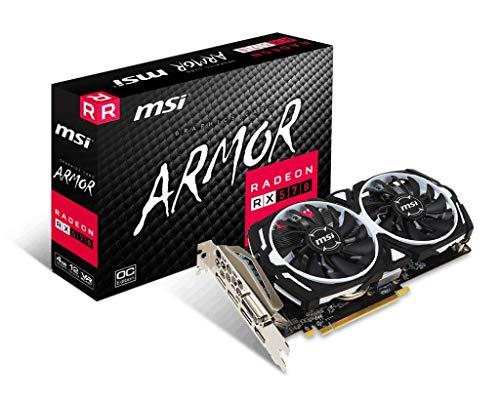 MSI游戏Radeon Rx 570 256位4GB GDRR5 DirectX 12 VR就绪CFX DVI/HDMI/DP显卡(Rx 570铠装4G OCV1)