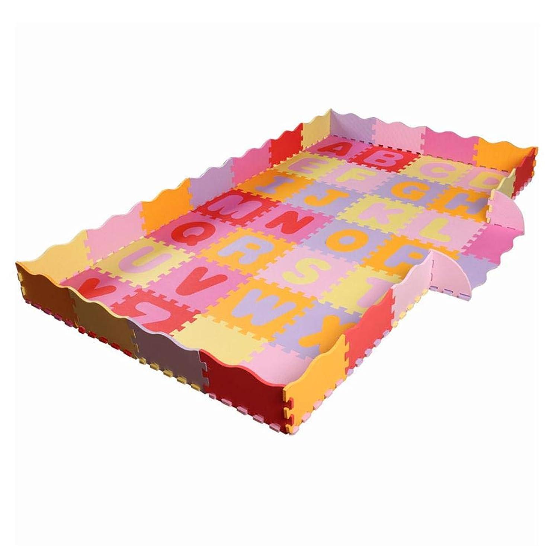 ジョイントマット カラーマット 保護 ベビークロールマト EVA子供のパズルマット アルファベットパズル 衝撃吸収 パズルフロアマット 耐寒性 防音 防水 安全無毒 (30×30cm,54 pcs)