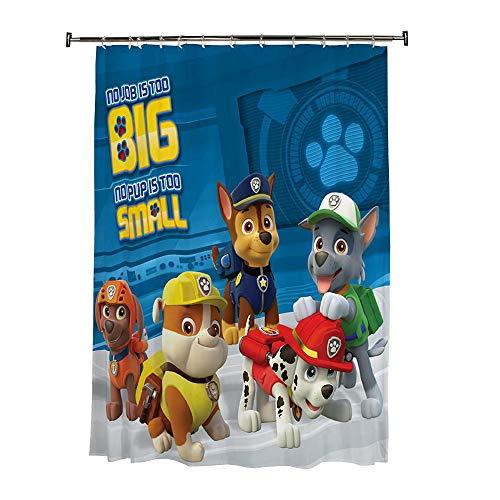 """Franco HN4588 Kids Bathroom Decorative Fabric Shower Curtain, 72"""" x 72"""", Paw Patrol"""