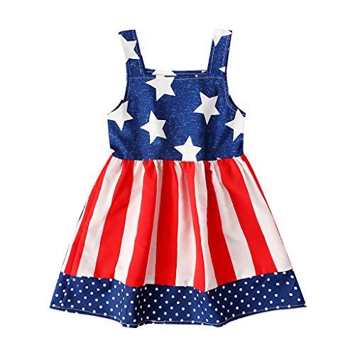 Janly Clearance Sale Falda de vestido para nias de 0 a 4 aos, para bebs y nias de 4 de julio, vestido de fiesta de princesa, bonito regalo para 3 a 4 aos, da de San Patricio (rojo)