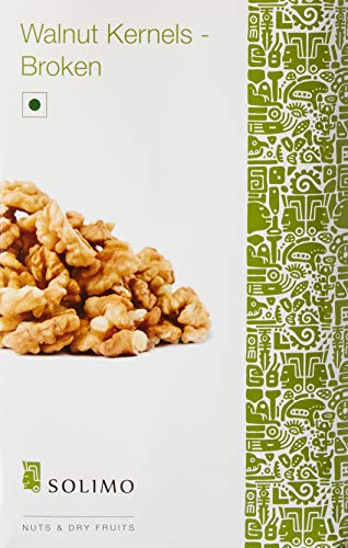 Amazon Brand – Solimo Premium Walnut Kernels – Broken,Dried,500g | Offer | Price in India