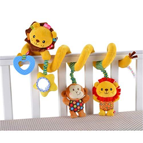 CULASIGN Activity-Spirale Tier/Stoff-Spirale zum Greifen und Fühlen für Bett, Kinderwagen Babyschale, Laufgitter anpassbar/Für Babys und Kleinkinder ab 0+ Monaten (3#)