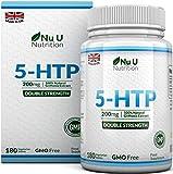 5-HTP 200 mg | Doble Potencia | 180 Comprimidos (Suministro para 6 Meses) | Complemento alimenticio de Nu U Nutrition