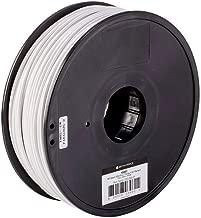 Monoprice ABS Plus+ Premium 3D Filament - White - 1kg Spool, 3mm Thick