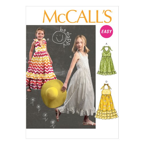 McCall Pattern Company M6736 Children's/Girls' Dresses Sewing Template, Size CHJ (7-8-10-12-14)