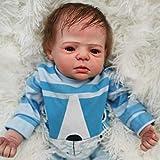 WY-SYY Reborn Baby Doll, Muñeca Bebé Bebé Soft Realista de 22 Pulgadas, con Accesorios, Vida Real Bebé Muñecas, Muñecas Bebé Realistas Lifelike Niño Adorable Regalo para Niños Cumpleaños,Flesh