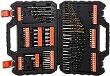 BLACK+DECKER A7200-XJ - Juego de 109 piezas para atornillar y taladrar con brocas 'Titanio'