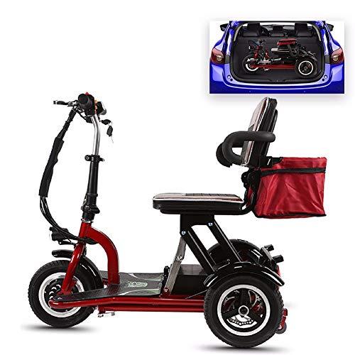 HSTD Senioren Mobil Dreirad, Elektromobil Elektroroller, 350W-Motor, 20KM/H, Geeignet Für ältere/behinderte Reisen Im Freien 35Km