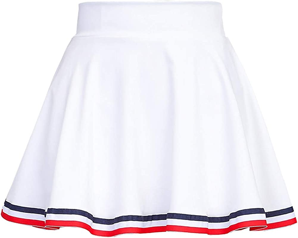 DISSA CA1214 Women Pleated Mini A-Line Skirt