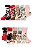 Z-Chen Pack de 5 Pares Calcetines Térmicos de Invierno para Niñas, 1-3 Años