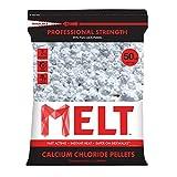 Snow Joe MELT50CCP 50-LB Professional Strength Calcium Chloride Pellets Ice Melter Resealable Bag
