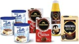 Nestlé Kit per Dolci e Gelati Fatti in Casa, 3 Confezioni Il Latte Condensato Nestlé 397g, 2 di Cacao Amaro Perugina 75g, Salsa Croccante Dark Perugina Professionale 950g, Nescafé GOLD 20 Bustine 34g