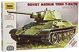 Zvezda 500785001 - Carro armato russo T34/76 Snap-Fit, scala 1:72