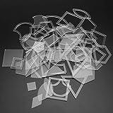 BiaBai Plantillas de patchwork reutilizables, accesorios de herramientas de bricolaje para coser, plantillas hechas a mano, regla acrílica transparente para acolchar