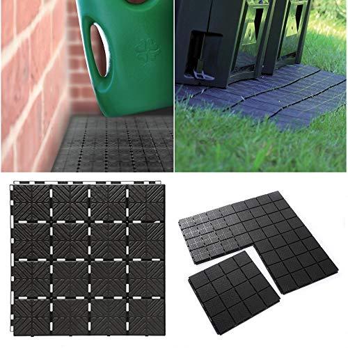 rg-vertrieb Gartenplatten Bodenplatten Fliese Terrassenfliesen Balkonfliese 40x40x2 cm Komposter Grundfläche 1,5m² Balkon Gehweg Beetplatten