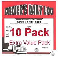 J。J。ケラー8541(615l) 2イン1ドライバの毎日のログブックW /簡体Dvir、NO Recap–10個パック