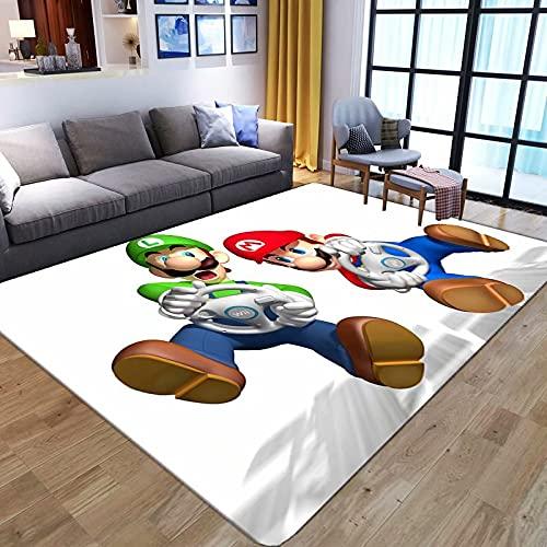WallDiy Cartoon 3D Anime Super Mario Muster Teppiche für Wohnzimmer Schlafzimmer Großfläche Teppich Kinder Spielen Bodenmatte Kinder Teppiche Spielbereich