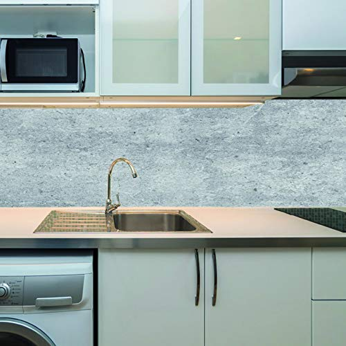 KLINOO Küchenrückwand als Spritzschutz - Wandschutz - alle Untergründe (verdeckt Fugen) - zuschneidbar/erweiterbar - geruchsneutral - wiederablösbar - 136cm x 48cm (Granit)