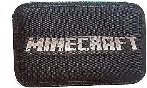 Panini spa Estuche escolar compatible con Minecraft Pixel Triple con 3 cremalleras, color verde