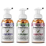 Beessential All Natural Foaming Hand Soap, Lavender, Peppermint, Grapefruit, 8 oz 3 Pack