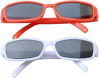 Nashville Toy Co Doll Sunglasses for 18 Inch Dolls Doll Eyeglass White and Orange Glasses 2 Pack