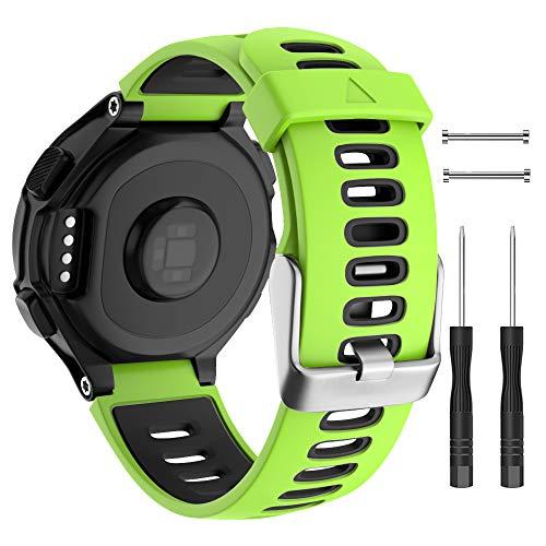 ISABAKE Correa de Reloj para Garmin Forerunner 735XT, Correa de Silicona Suave con Hebilla de Metal, tamaño Ajustable, Compatible con Garmin Forerunner735xt/220/230/235/620/630