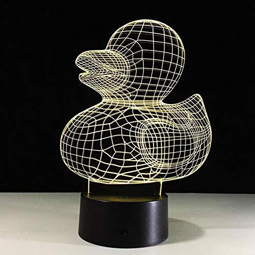 Kleine Ente 3D Illusion Lamp e Dekoration Bunte Stereo Touch LED Acrylplatte Optische Täuschungslampe