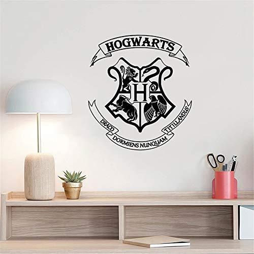 Wandtattoo Harry Potter Hogwarts Schule Abzeichen Custom Home Decor Wohnzimmer Tür Dekor Abnehmbare Muur