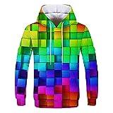 3D Impreso Jersey Suéter Transpirable Sudadera 3D Tres Dimensiones Patrón Cuadrado Sudadera De Los Hombres S M L XL 2XL 3XL 4XL