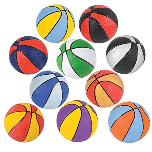 Discover Bargain Srenta 7 Assorted Colors Mini Basketballs | Variety Colors Indoor Outdoor Game Bal...