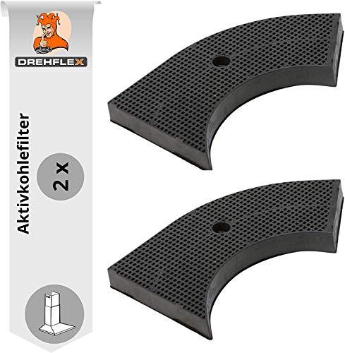 DREHFLEX - AK05-2 - 2x Kohlefilter/Aktivkohlefilter passend für diverse Hauben von AEG/Electrolux 902979380/9029793800 für Bauknecht/Whirlpool 484000008582 CHF85 passend für Ikea NYTTIG FIL100