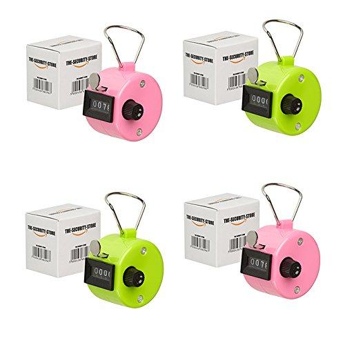 4 x Handzähler (Rosa und Grün) The-Security-Store