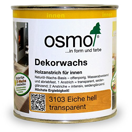 Osmo Dekorwachs Transparent Eiche hell 0,375 l - 10100802