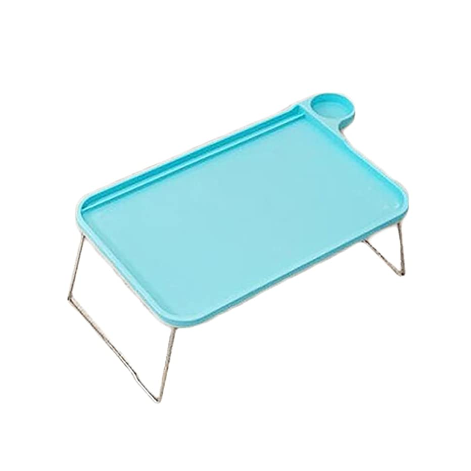 super1798 Portable Tablet Table Desk Foldable Computer Notebook Tray Stand for Bed Sofa (Blue)